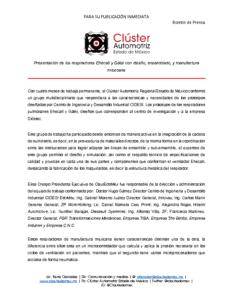 Boletín de Prensa Respiradores Manufactura Mexicana