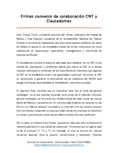 CNT y CLAUTEDOMEX