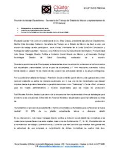 REUNION CLAUTEDOMEX- STPS